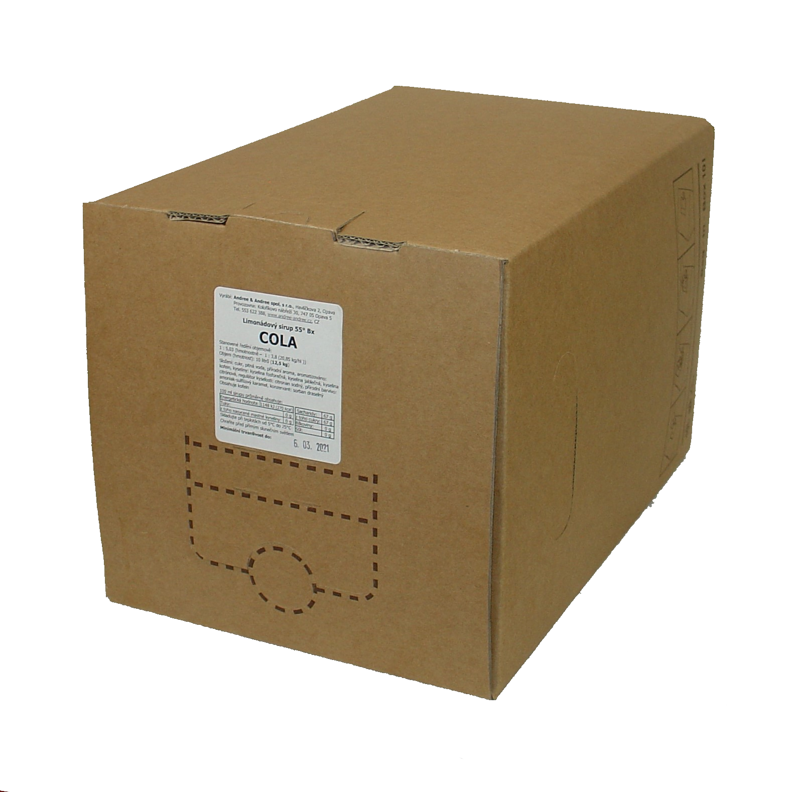 Sirup Cola bag-in-box 10 ltr.